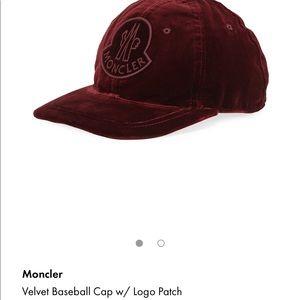 Moncler Logo Velvet Cap. BRAND NEW NEVER WORN